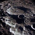 The largest crater on the moon is183 miles
