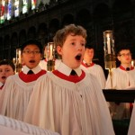 BXN12P THE KINGS COLLEGE CHOIR IN CAMBRIDGE REHEARSING FOR THE CHRISTMAS EVE SERVICE.,Festival of Nine Lessons and Carols.. Image shot 12/2010. Exact date unknown.
