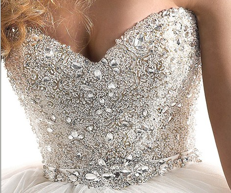 diamond top wedding dress - photo #3