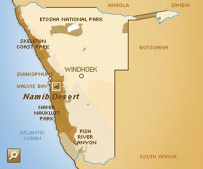 africa map namib desert