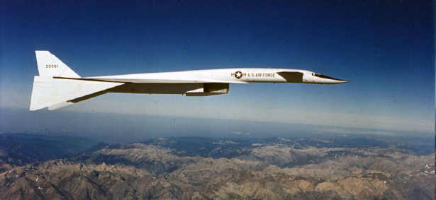 XB-70 Valkyrie with 6 engines